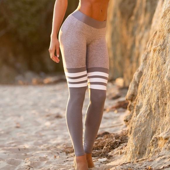 77e4bfe197c Bombshell Sportswear Pants - bombshell sportswear Thigh Highs Legging Silver